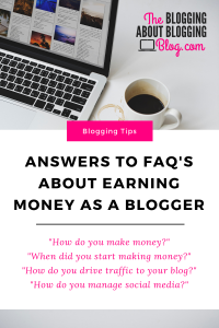 Answers to some of the most commonly asked questions about blogging as a business. | by Ashley Mann of TheBloggingAboutBloggingBlog.com | #bloggingtips #bloggingadvice #blogging #startablog