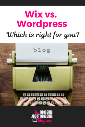 The pros and cons of blogging with WordPress.   TheBloggingAboutBloggingBlog.com #bloggingtips #bloggingforbeginners #startablog #blog