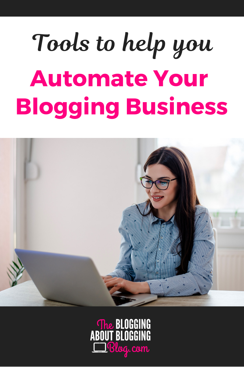 Cut down on the overwhelm with these tools that save you time and make your business more efficient.   TheBloggingAboutBloggingBlog.com #bloggingtips #bloggers #blogging #bloggingbusiness