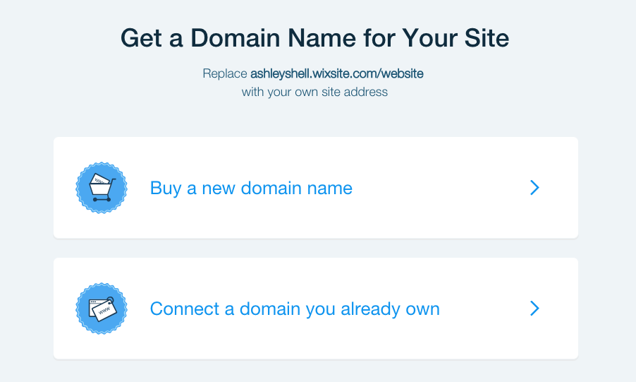 You can connect your own domain name to a Wix website.