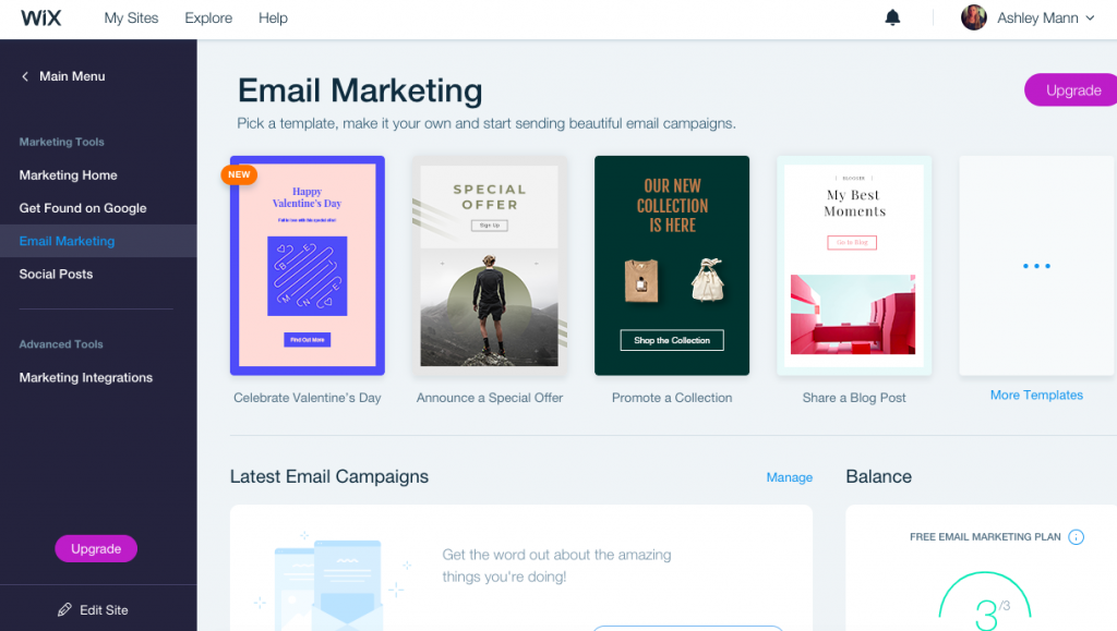 You can do basic email marketing within Wix without having to use a separate email marketing software.