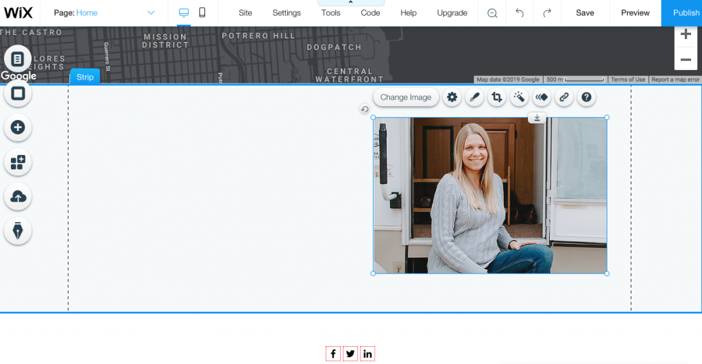 Using Wix Editor you can add and resize photos on your website.
