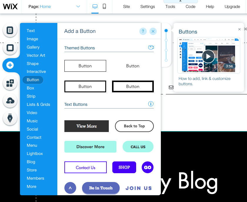 By customizing your website in Wix Editor your can add buttons wherever you want them.